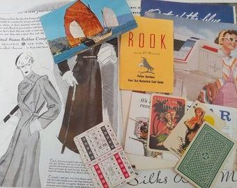 Vintage Ephemera Pack - Scrapbook - Journal - Mixed Media - Paper Stash