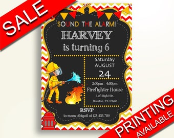 Fireman Birthday Invitation Fireman Birthday Party Invitation Fireman Birthday Party Fireman Invitation Boy printables editable F3113