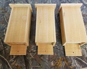 3 Pack - 3 Chamber Bat House Handmade Cedar Bat House – Mosquito Control