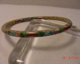 Vintage Bangle Bracelet Looks Like Cloisonne  16 - 850