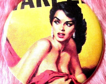 Pinup Girl - Pocket Mirror - Pulp  - Damsel In Distress