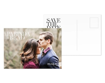 Digital Download Save the Date Template Postcard Wedding Save the Date Photo Card