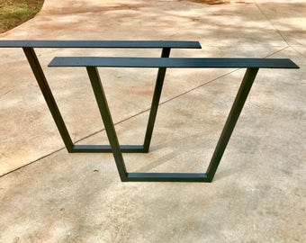 Metal Table Legs Tapered Set of 2