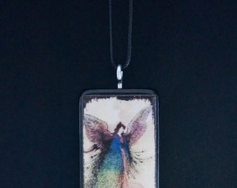 Domino Pendant - Necklace - Fairy