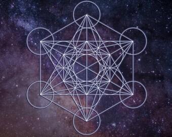 Sacred Geometry digital print tapestry