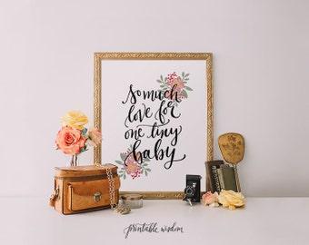Nursery Art print, Nursery wall art, quote print, printable wisdom, Nursery printable art, Quote print quote printable, nursery quote floral