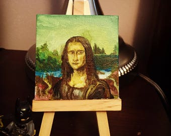 Mini Hand Painted Mona Lisa
