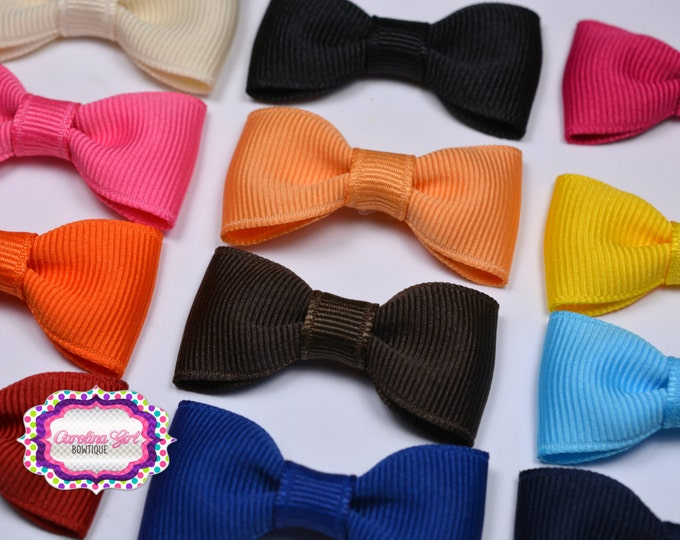 "You Pick 5 -  2"" Hair Bow Tuxedo Bow Simple Bow Boutique Bow for Babies Toddlers Girls Hair Bows Teen Hair Accessory"