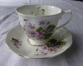Royal Albert violets tea cup and saucer