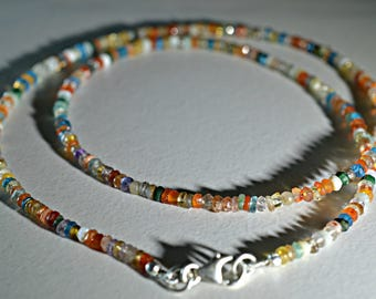Natural Multi color Beads Necklace - Multi color Beads Necklace - Bead Necklace