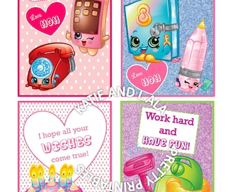 12 Shopkins Lunch Box Notes
