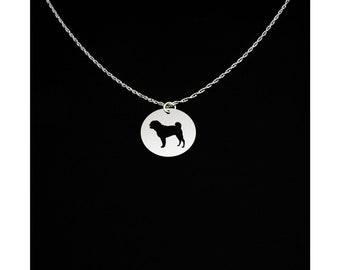 Pug Necklace - Pug Jewelry - Pug Gift
