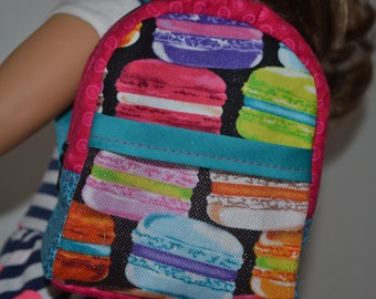 American Girl Doll sized, 18 in doll backpack- Made to Order
