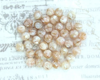 8mm Beige Shell Beads Mosaic Shell Beads Mother Of Pearl Beige Beads MOP Beads Beige Sea Shell Beads