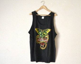"80's ""Harley Davidson"" Graphic Tank Top"