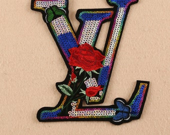 embroidery sequins rose patches,sequins letters patches for jackets,letters sequin appliques,badges,sequins patches for T-shirts