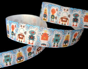 Robot Ribbon, Gear Ribbon, Science Ribbon, Nerdy Ribbon, Steampunk Ribbon, Birthday Theme, Trendy Ribbon, Cartoon Ribbon, Space Ribbon