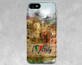 I love Italy case for iPhone X, Phone Case, Case for Samsung Galaxy 8, iPhone 8 Plus Case, Silicone Case, Funny Case, Gift