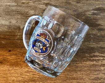 FREE INTERNATIONAL SHIPPING - Vintage Pripps Blå Fatöl tankard glass from 1980s Sweden