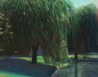 Willow Trees by Lake