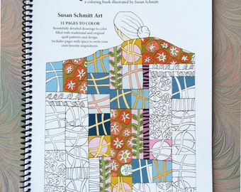 coloring book Quilted Women
