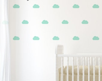 Cloud Wall Decal . Baby Nursery Wall Decals . Cloud Wall Sticker - AP0021NF