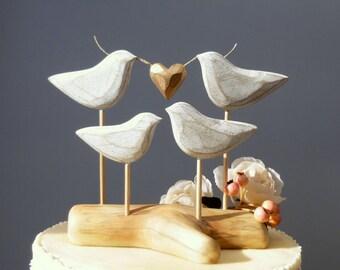 Wooden Cake Topper,  Family Wedding Cake Topper, Wood Wedding Topper for your Family Cake/ Topper, Love Bird Cake Topper