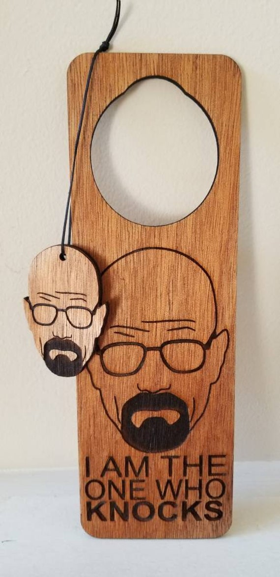 "Breaking Bad inspired Door Hanger and Ornament ""I am the one who knocks"""
