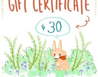 Gift Certificate - 30 Dollars