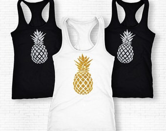 Pineapple Shirt, Pineapple Tank Top, Pineapple Tank Top Fruit Shirt, Pineapple Tank, Pineapple Tee, Pineapple, Fun Shirt, Womens Tops