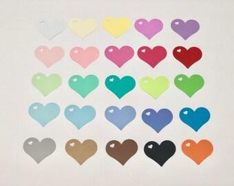 20 pcs Heart tags.