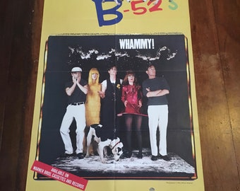 "The B52s "" Whammy"" 1983 Warner Bros Records Original Rare Vintage Music Poster"
