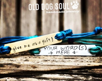 2 Hand stamped  personalized friendship, custom hand stamped bracelet- Listing is for 2 bracelets