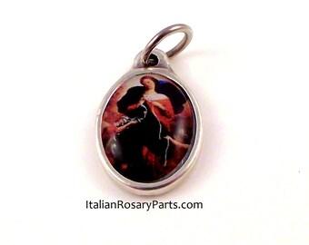 Virgin Mary Undoer Untier of Knots Bracelet Medal Charm Color Epoxy | Italian Rosary Parts