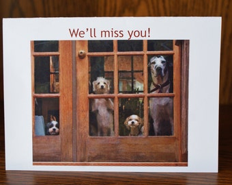 Dog Farewell Card Goodbye Card