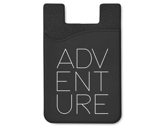 Adventure Silicone Adhesive Card Holder Stick On Cell Phone Wallet