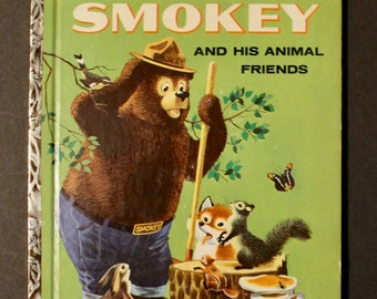 Vintage Little Golden Book  No.387 Smokey and His Animal Friends 1st Edition 24 page 1960