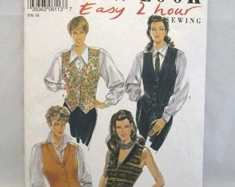 New Look 6113 Misses Easy to Sew Vest Size 6-16 UNCUT