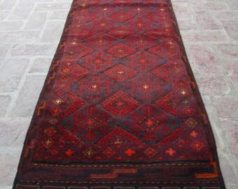 Size: 8.8 x 2.3 feet & 264 x 69 cm, Beni Ourain Rug, Berber Rug, Moroccan Rug, Decorative Rug, Hallway Rug, Runner Rug, Oushak Rug, Wool Rug