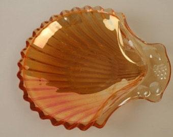 Carnival Glass Butter Dish