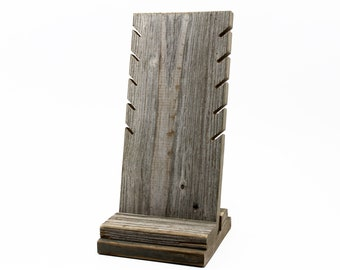 Rustic Necklace Display Stand - Barn Wood / Distressed / Craft Show / Boutique Retail Jewelry Rack / Reclaimed Wood / FREE US SHIPPING