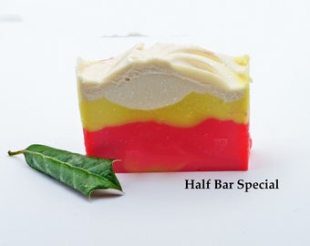Handmade Bar Soap Half Bar Sale Cold Process Soap Scented Soap Natural Soap Organic Soap