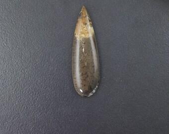 Dendritic Agate, 51x16mm, large cab, long cabochon, large teardrop stone, large pendant stone, dendrites, talon cabochon, agate cab