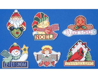 Signs Of Christmas Ornaments Counted Cross Stitch Kit