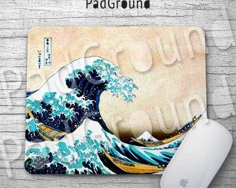 Ukiyo E Mouse Pad, Wave Mousepads, Japanese Painting, Mouse Mat, Office Decor, Dorm Decor, Kids Gifts, Birthday Gifts, Accessories - JW01