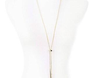 Long Stone Drop Necklace