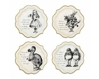 Truly Alice Paper Plates, Medium, Alice In Wonderland, Themed Party, Tableware, Party, Supplies