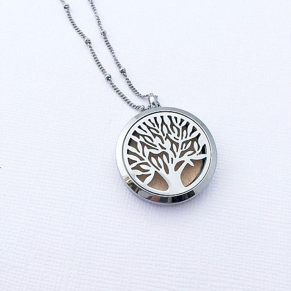 Diffuser necklace tree of life jewelry aromatherapy necklace zoom aloadofball Images