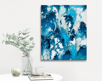 Abstract Art Painting, Abstract Wall Art, Canvas Art Bedroom Decor, Modern Art Acrylic Pouring Fluid Painting