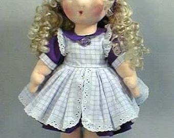 Rag Doll Sewing - Handmade Doll Pattern - 18 inch cloth rag doll sewing pattern - epattern - PDF download